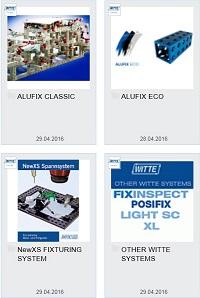 CAD knihovna komponentů WITTE - ALUFIX