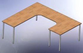 Pracovní stůl L-typ